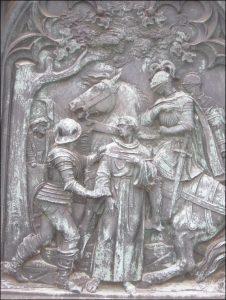 Luthers Entführung auf dem Lutherdenkmal in Möhra.